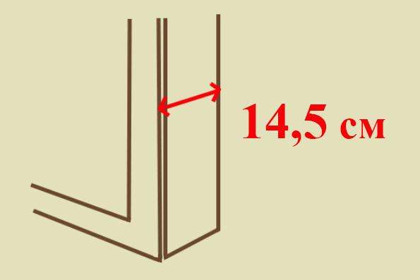 Глубина гладильного шкафчика всего 14,5 см. Очень компактный.